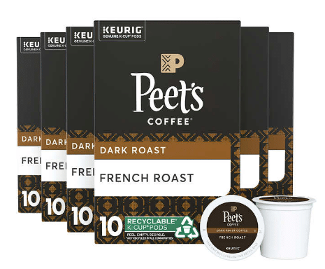 Peets Coffee French Roast K Cup Pods 60ct $29.99