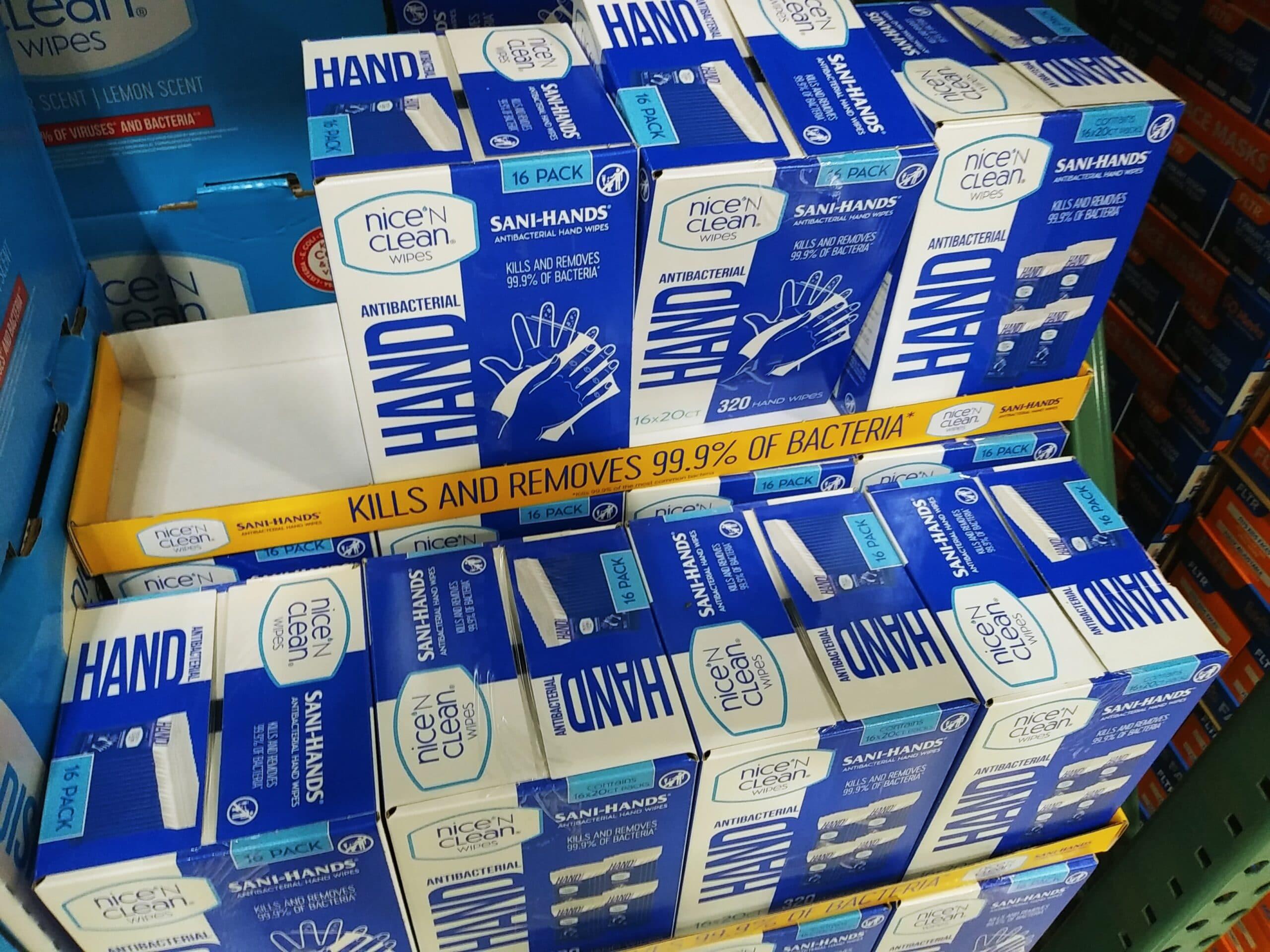 Nice n Clean Antibacterial Hand Wipes 16pk $6.97