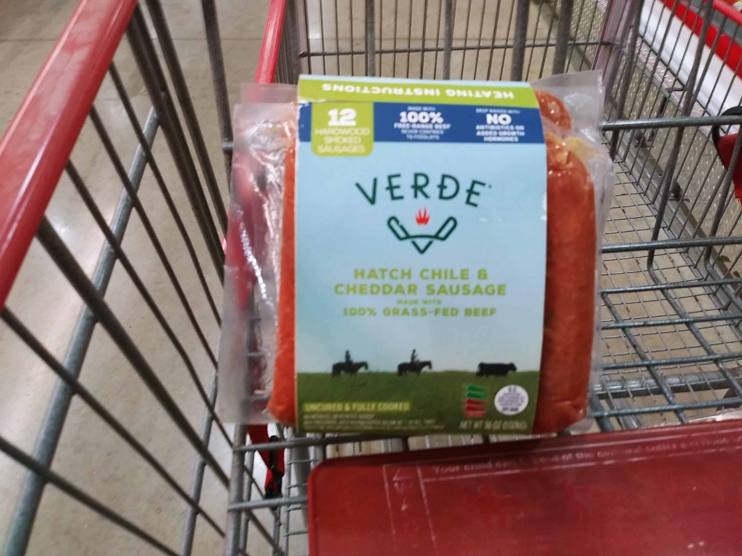 Verde Farms Hatch Chile Cheddar Sausage $12.99