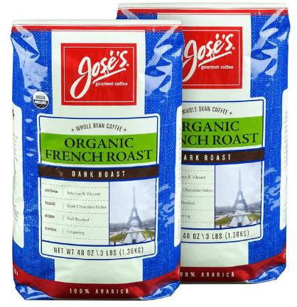 Joses Organic French Roast and Vanilla Nut Coffee $5 Off