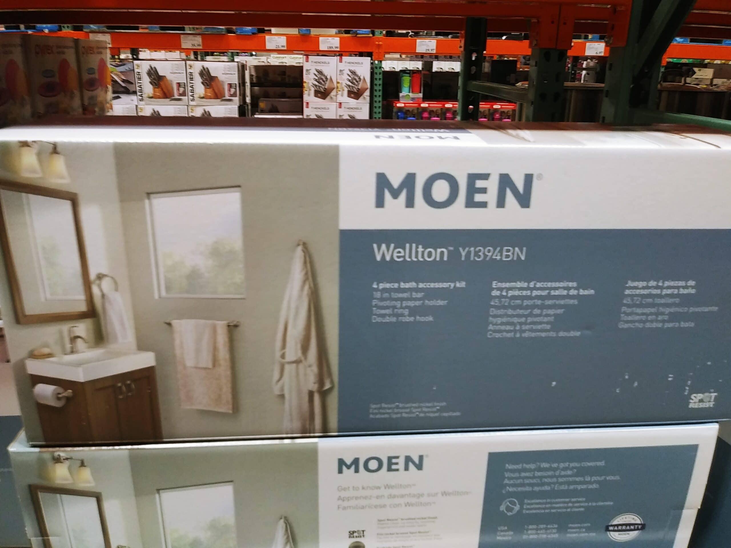 Moen Wellton 4pc Bath Hardware Set $29.97