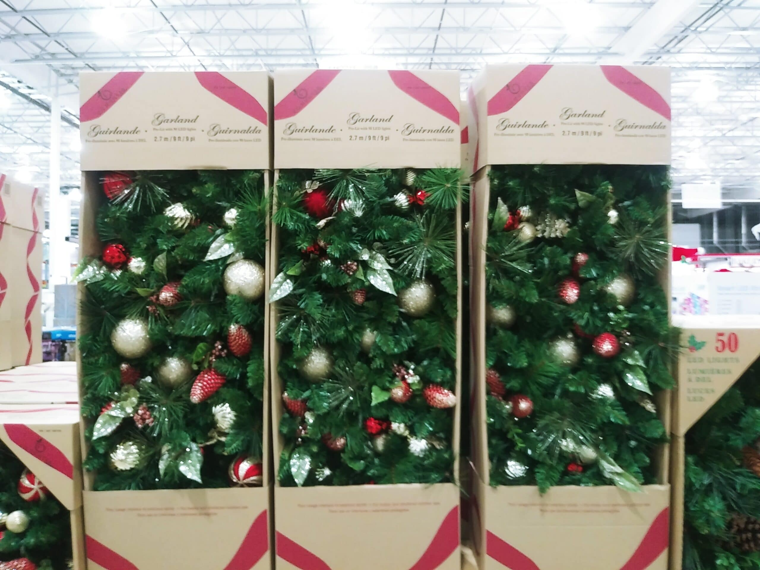 30 Inch Pre Lit Garland with Red and Gold $39.99