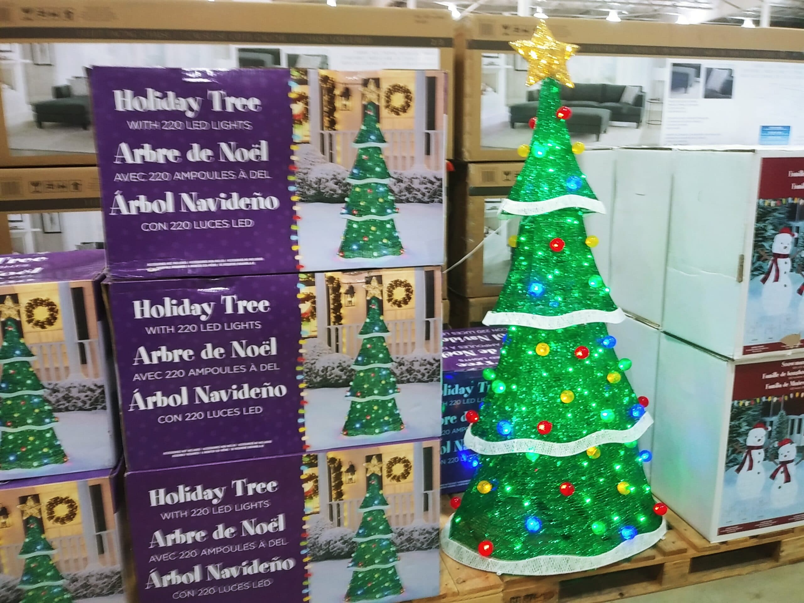 72 inch Holiday Tree 220 LED Lights $109.99