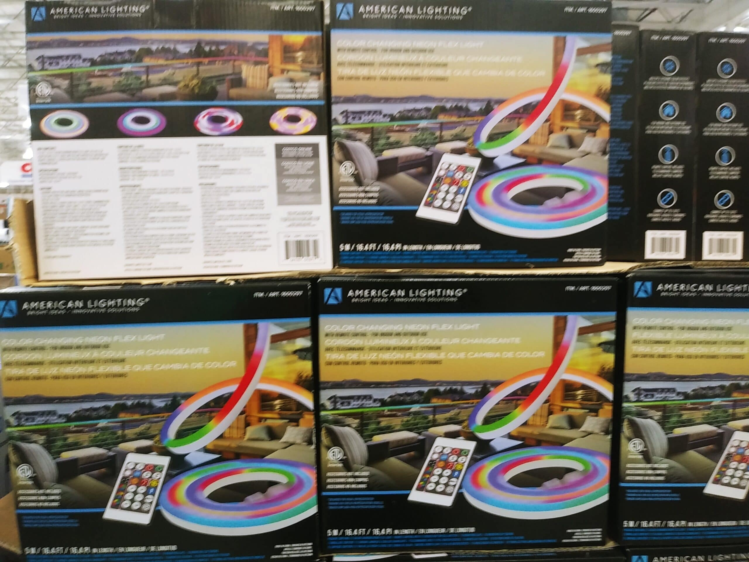 16 ft LED Changing Neon Strips $34.99