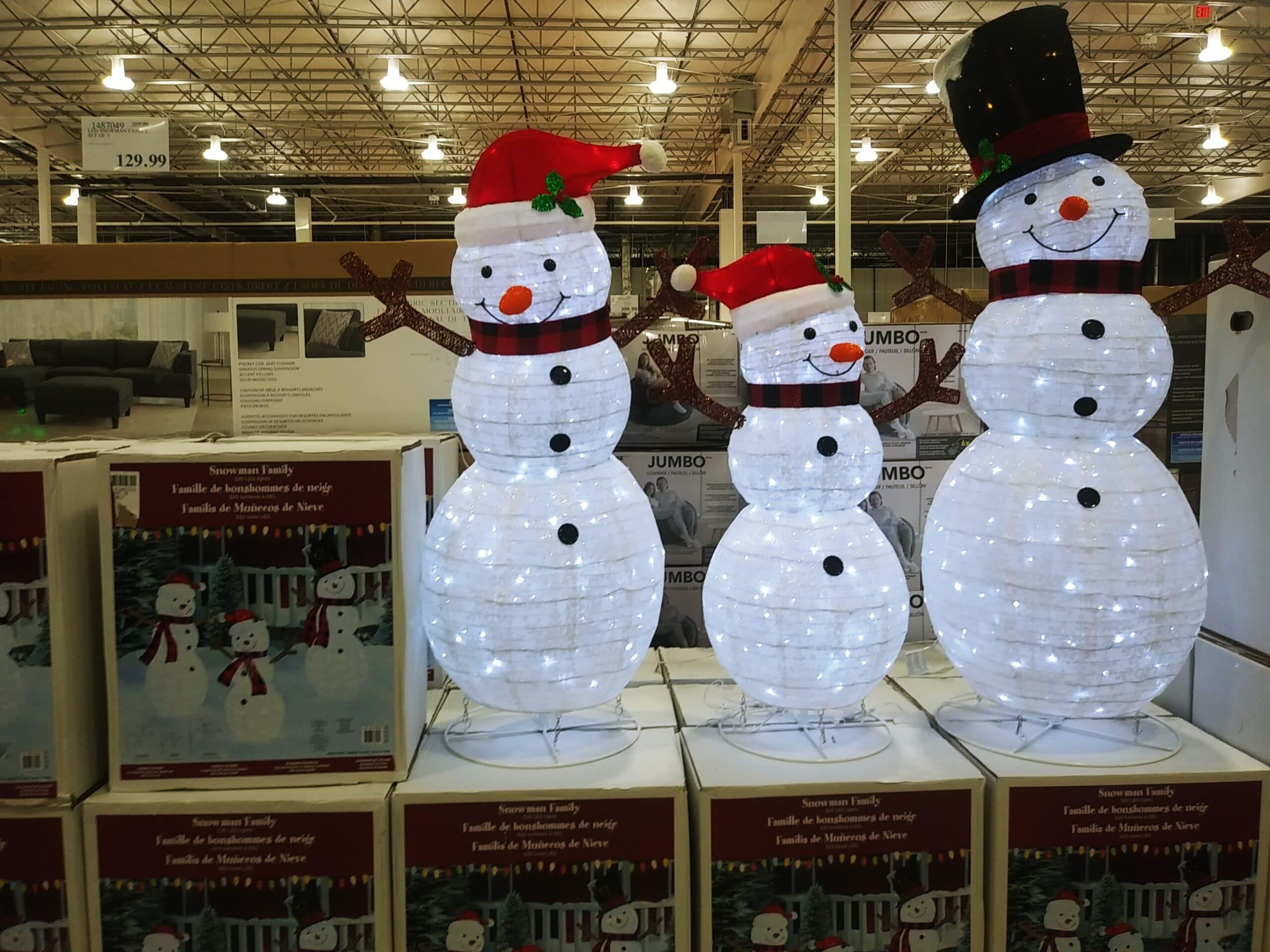LED Snowman Family 3pk $129.99