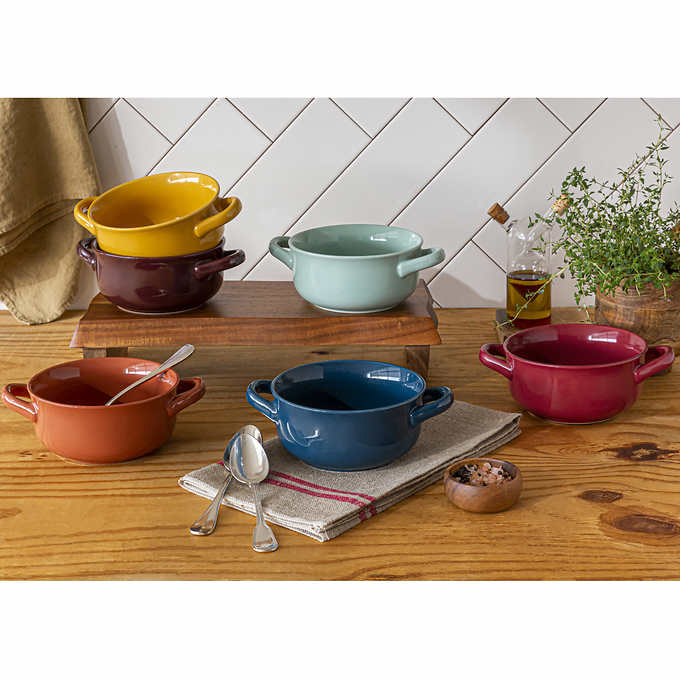Over and Back Handled Bowls 6pc Set $18.99